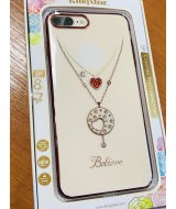 Чехол-накладка с Swarovski Kingxbar Hearts  iPhone 8 Plus /7Plus