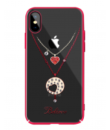 Чехол-накладка с Swarovski Kingxbar Hearts  iPhone  X