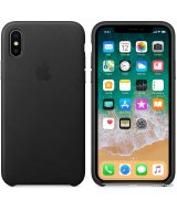 Чехол Apple Leather Case для iPhone X/Xs Black (натуральная кожа)