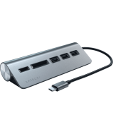 USB-концентратор Satechi Aluminum USB 3.0 Hub & Card Reader ST-TCHCRM (Space Gray)